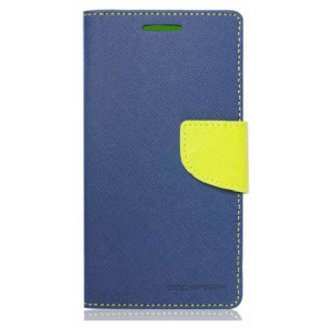 Púzdro Mercury FANCY diary Samsung Galaxy S6 edge Blue lime