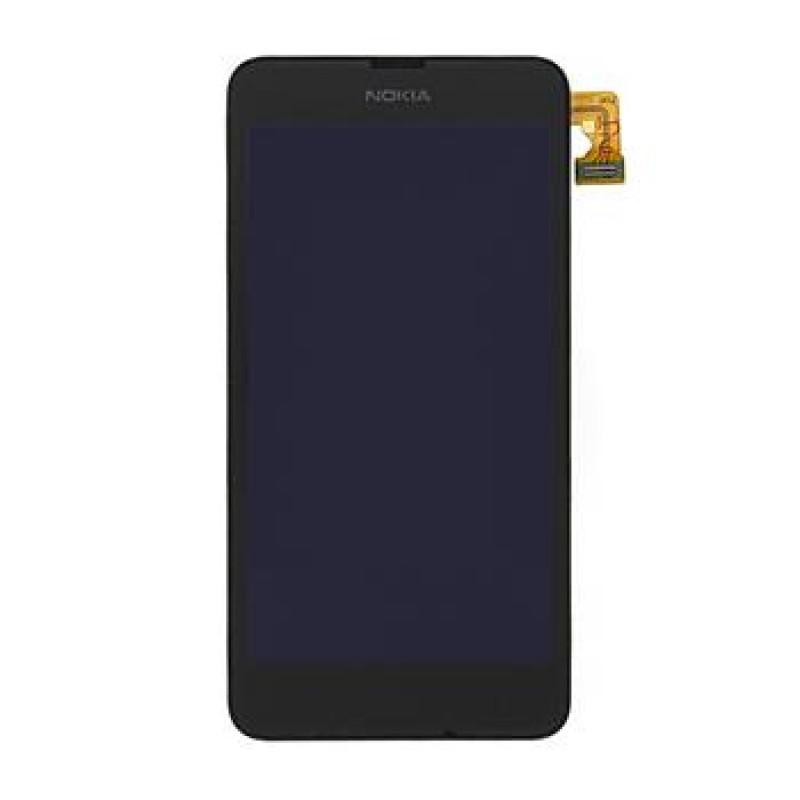Nokia Lumia 630 Black LCD Display + Přední Kryt vč. Dotyku