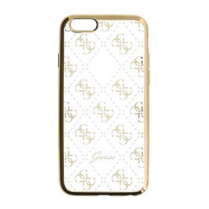 Original faceplate case GUESS GUHCP6TR4GG iPhone 6 4,7 gold - transparent