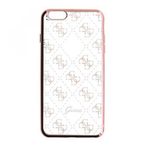 Original faceplate case GUESS GUHCP6TR4GRG iPhone 6 4,7 rose-gold - transparent
