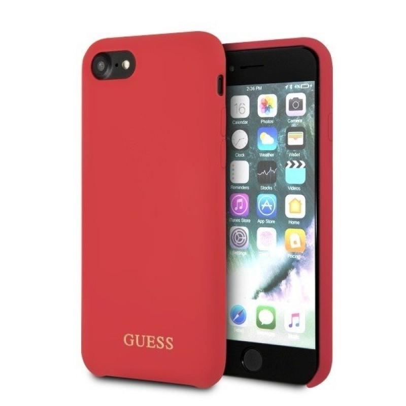 GUHCI8LSGLRE Guess Saffiano PU Silicone Case Red pro iPhone 7/8
