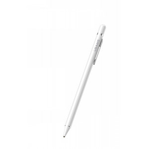 USAMS ZB057 Touch Screen Stylus Pen White (With Clip) (EU Blister)