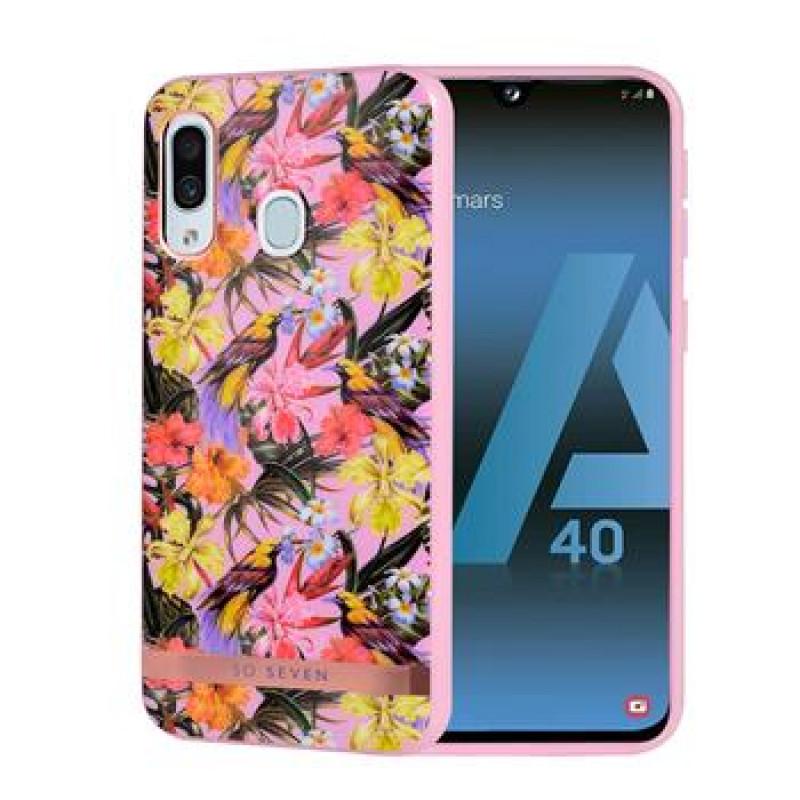 SoSeven Coque Phuket Silikonový Kryt pro Samsung Galaxy A40 Tropical Rose (EU Blister)