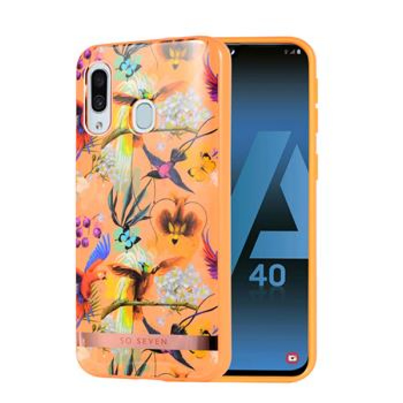 SoSeven Coque Phuket Silikonový Kryt pro Samsung Galaxy A40 Orange Parrot (EU Blister)