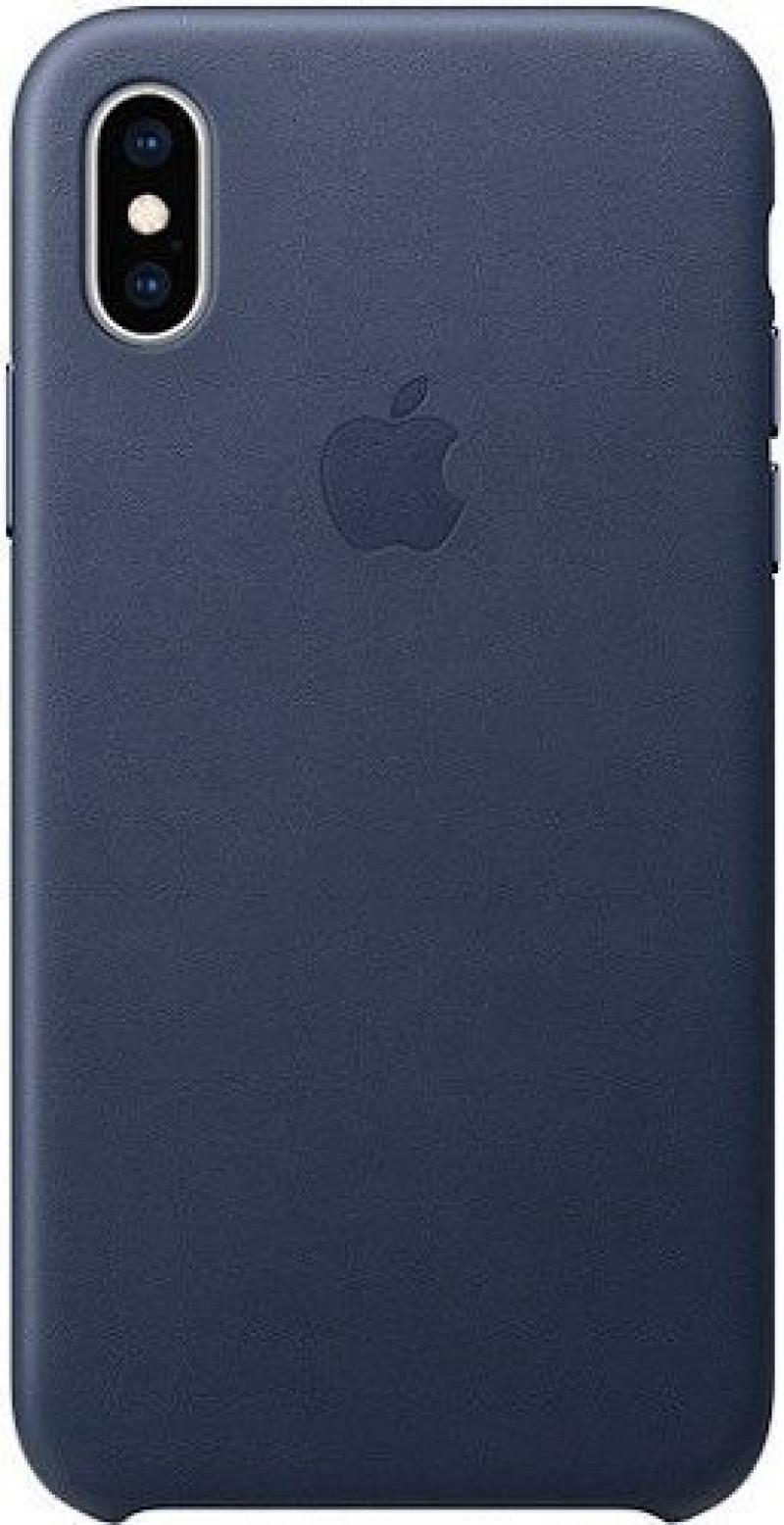 MRWN2ZM/A Apple Kožený Kryt pro iPhone X/XS Midnight Blue (EU Blister)