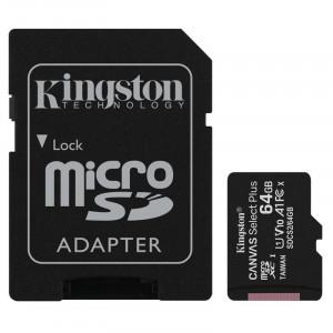 microSDHC 64GB Kingston Canvas Select + w/a (EU Blister)