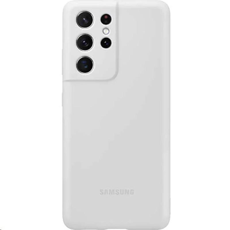 EF-PG998TJE Samsung Silikonový Kryt pro Galaxy S21 Ultra Light Gray
