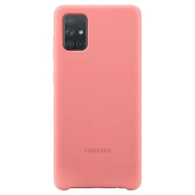 EF-PA715TPE Samsung Silikonový Kryt pro Galaxy A71 Pink (Pošk. Balení)