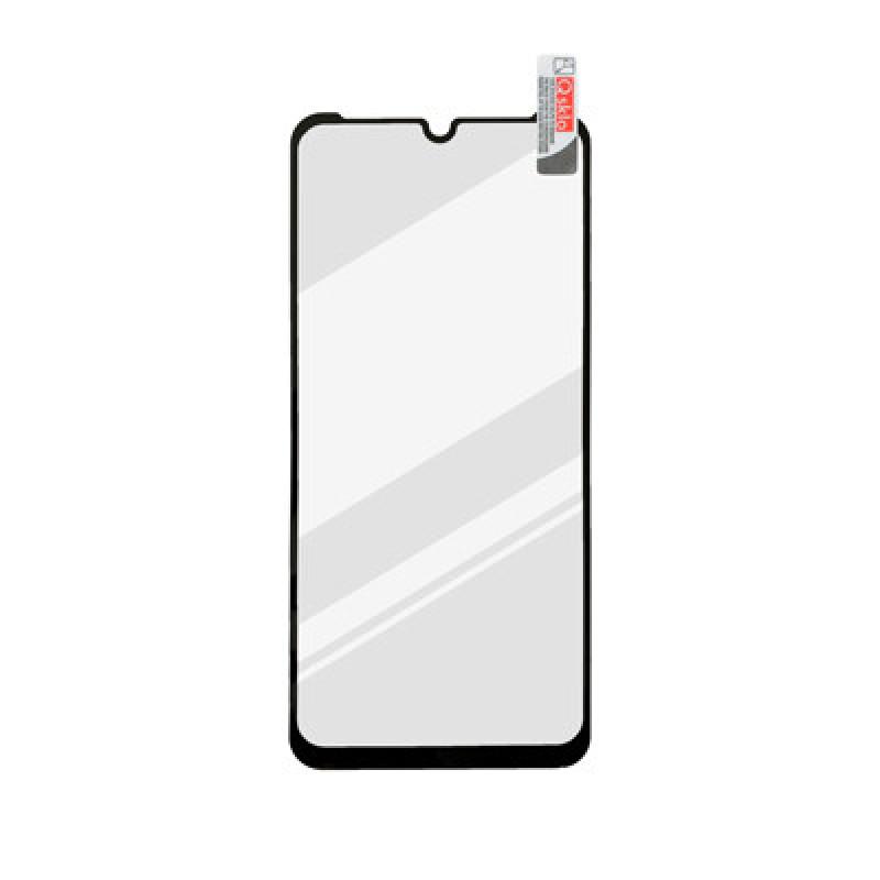 Motorola E6i čierne FULL GLUE sklenená fólia 0.33mm, Q sklo