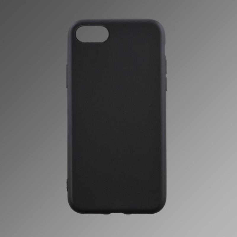 Gumený kryt iPhone 8 čierny matný