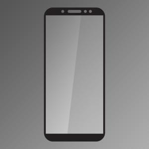 Ochranné sklo Samsung Galaxy A6 čierne, fullcover, 0.33mm Q sklo