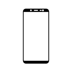 Ochranné Q sklo Samsung Galaxy J6 2018 čierne, fullcover, full glue