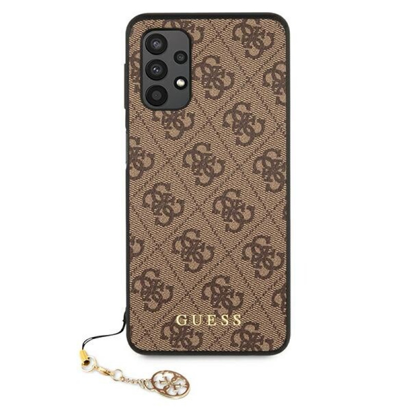 Guess puzdro na Samsung Galaxy A32 LTE 4G A325, Charms Collection, hnedá