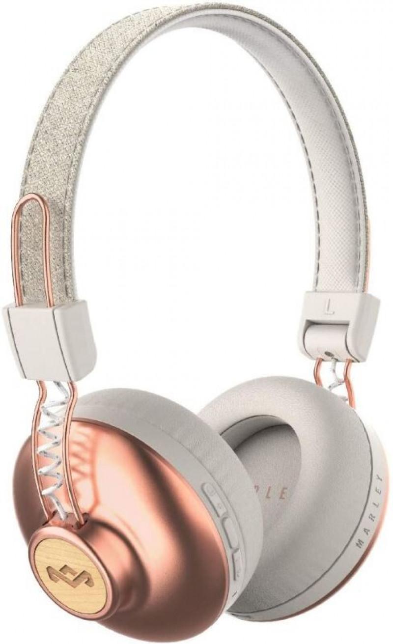 MARLEY Positive Vibration 2.0 Bluetooth bezdrôtové slúchadlá cez hlavu - medené