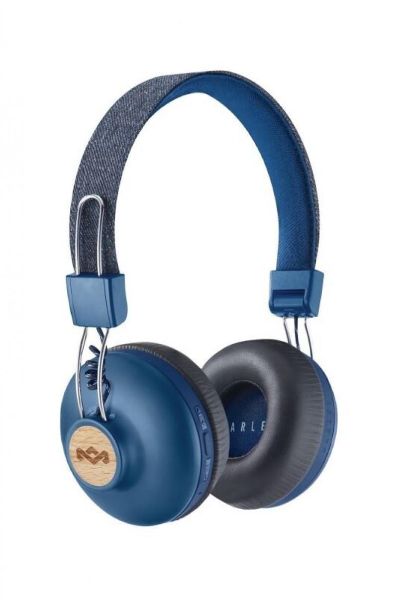 MARLEY Positive Vibration 2.0 Bluetooth bezdrôtové slúchadlá cez hlavu - modré
