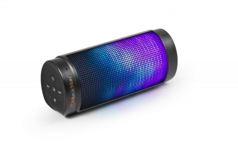 Technaxx prenosný Bluetooth reproduktor LED LIGHT 2000 mAh, čierny BT-X26
