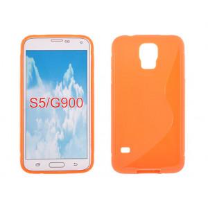 Púzdro S-Line Case Samsung G900 Galaxy S5 oranžové